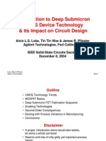 Introduction to Deep Submicron Cmos Devicw Tech & Its Impact on Ckt Design
