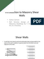 Intro to Masonry Shear Walls