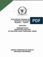 RUU RUU Tentang Pembentukan Kabupaten Malaka Di Provinsi Nusa Tenggara Timur