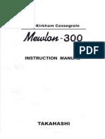 Mewlon300 Manual
