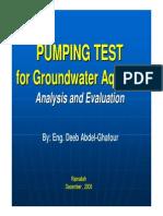 Pumping Test