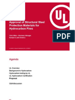 Approval of Structural Steel Protection Materials for Hydrocarbon Fires