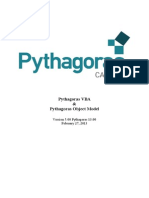 Pythagoras VBA Manual | Visual Basic For Applications | Library