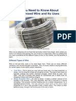 How Galvanised Wire is Manufactured and Used Today