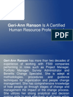 Geri-Ann Ranson Is A Certified Human Resource Professional