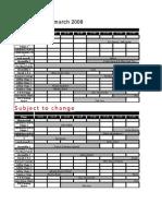 Java Jazz 2008 Schedule