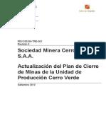 Plan de Cierre Cerro Verde