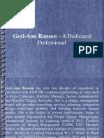 Geri-Ann Ranson – A Dedicated Professional