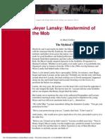 Meyer Lansky Mastermind of the Mob