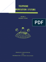 Telephone Communications Systems Chap 3 Crossbar Systems