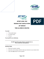 Jetset Level 2 Reading Sample (Jet Version)