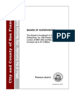 San Francisco City Government Controller  - SFO Enterprises Report