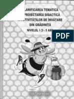 Planificare tematica si proiectarea didactica a activitatilor de invatare din gradinita Nivelul I