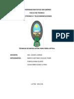 TÉCNICAS DE MODULACIÓN EN EL DOMINIO ÓPTICO