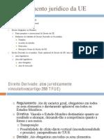 8- O ordenamento jurídico da UE