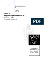 HMS215 Engineering Mathematics 3C Outline Sem 1, 2014