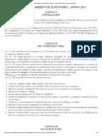 REGLAMENTO DE ELECCIONES – APAFA 2012 _ Elecciones Apafa 2012