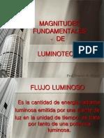 Magnitudes Fundamentales de Luminotecnia