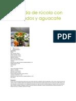 Ensalada de rúcola con ahumados y aguacate