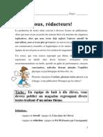 MAGAZINE_SAE_cahier_élève_2014