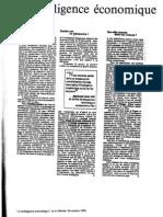 L'intelligence economique in LeMonde 26 octobre 1993