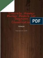 Implementation of discrete hidden markov model for sequence classification in C++ using Eigen