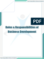 Roles & Responsibilities of Business Development