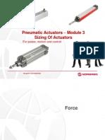 Actuators Module 3 - Sizing of Actuators
