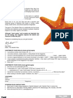 DEAR STARFISH READER ! Please Enjoy This Latest Issue Of