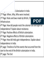 Story Board - India Colonialism