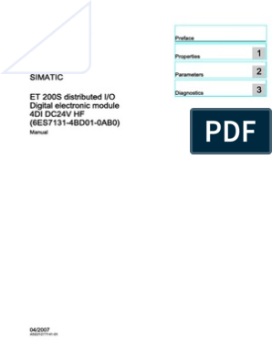 Siemens ET 200S 6ES7 131-4BD01-0AA0 4 DI DC 24V Input 6ES7 193-4CA30-0AA0 TOP