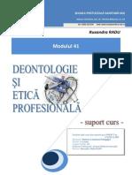 116376841 Suport Curs Deontologie Si Etica Profesionala Anul III