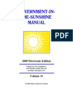 Sunshine Manual 2009