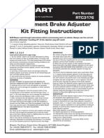 Fitting Instructions for RTC3176 Adjuster Shoes Drum brake LAnd Rover Series