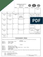 Legion Calendar March 2014
