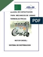 D-MOTOR DIESEL,SISTEMA DE DISTRIBUCIÓN