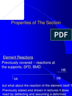 Properties of the Section