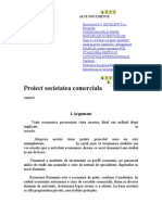 Proiect societatea comerciala