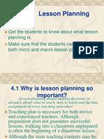Unit 4 Lesson Planning