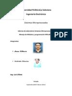 Informe Laboratorio Sistemas Microprocesados