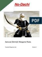 No-Dachi Samurai Skirmish Rules