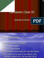 Cavidades Clase III