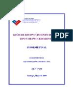 Guía de Reconocimiento de Obras Tipo y Procedimientos, DGA