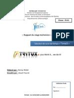 Rapport stage de perfectionnement - Application de suivi de temps Web2.0 sous Symfony Framework & propel ORM