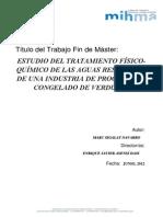 Tesis Master. Estudio Del Tratamiento Fisico Quimico de Aguas Residuales de Una Industria de Vegetales 2012