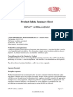 Lecithins, Acetylated Product Safety Summary