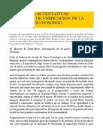Acerca de Las Tentativas Historicas de Unificacion de La Isla de Santo Domingo-pedro Mir