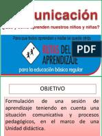 Ppt Competencias Comunicativas y La Sesion de Aprendizaje 1