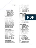 Listado Completo de Los Papas de La Santa Iglesia