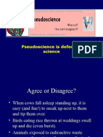 Pseudoscience is Defective Science